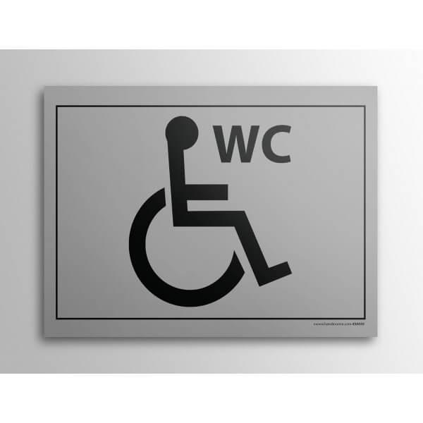 Plaque gravée WC