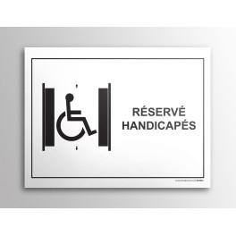 Plaque gravée Ascenseur Réservé PMR