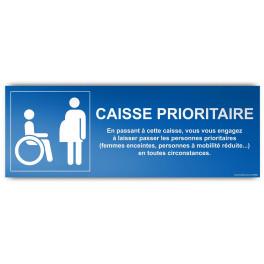 Panneau d'Information Recto/Verso Caisse Prioritaire