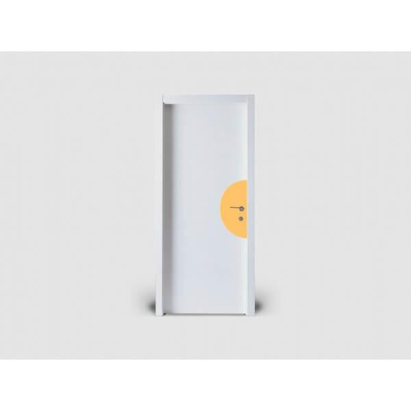 Plaque de porte silhouette DEMI-LUNE hauteur 300mm