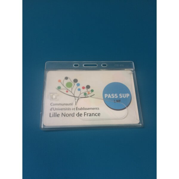 Porte-badge PVC rigide - 90 x 60 mm - Lot de 50
