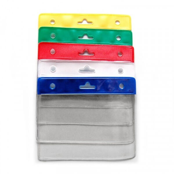 Lot de 100 portes badges souple bandeau - 5 couleurs