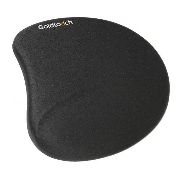 Tapis de souris ergonomique noir avec un revêtement en lycra et intérieur en gel