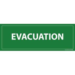 Panneau Evacuation fond vert