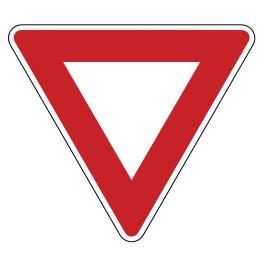 """Panneau de circulation """"Cédez le passage"""""""