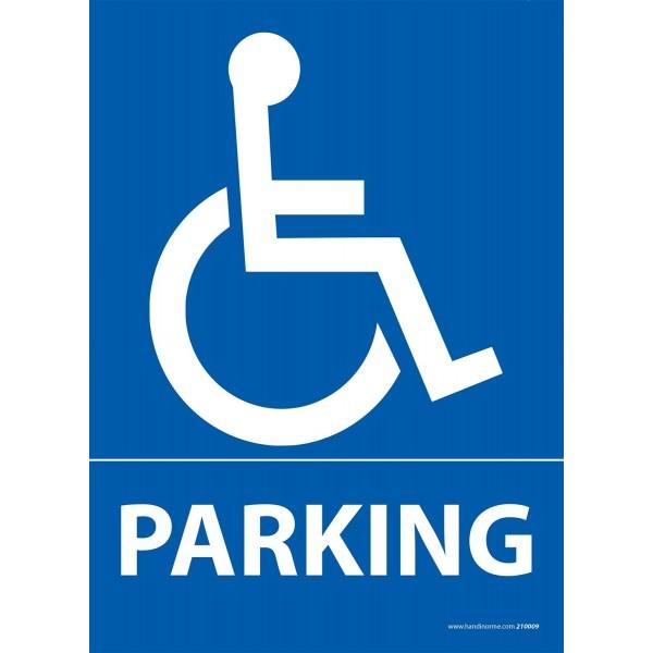 Panneau Parking Logo PMR - Dibond - 3 formats