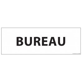 """Signalisation d'information """"BUREAU"""" blanc ou gris , vinyle ou PVC 210 x 75 mm fond blanc"""
