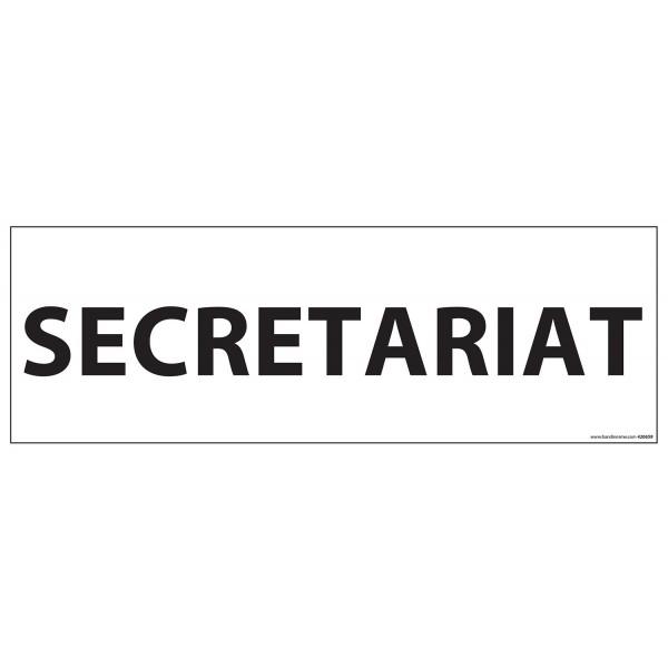 "Signalisation d'information ""SECRETARIAT""- 210 x 75 mm fond blanc"
