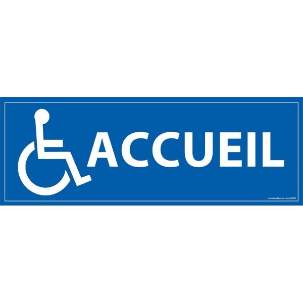 """Signalétique information """"ACCUEIL + symbole PMR"""""""