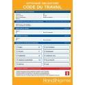 Poster d'affichage Code du travail