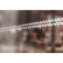 Bandes de signalisation MOTIF double triangle - Surfaces vitrées