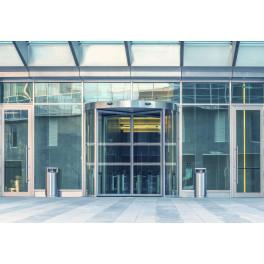 Bandes de signalisation MOTIF barres inclinées - Surfaces vitrées