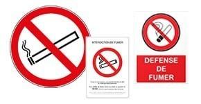Signalétique Interdiction Fumer / Feu