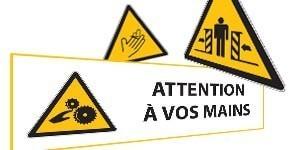 Signalisation Danger lié aux Machines