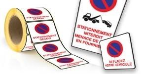 Autocollants dissuasifs pour parking