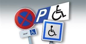 Panneaux places de parking handicapés