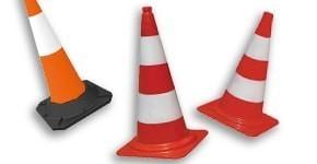 Cônes de signalisation de chantier et accessoires