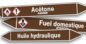 Marquage de tuyauterie Liquides Inflammables