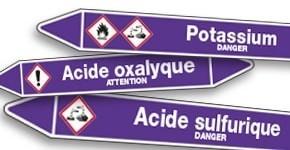 Marquage de tuyauterie Acides et Bases