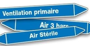 Marquage de tuyauterie Air