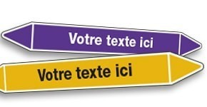 Marquage de tuyauterie Texte personnalisé