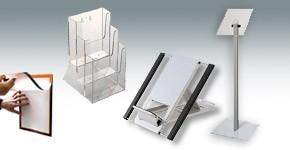 Présentoirs, documents et vitrines
