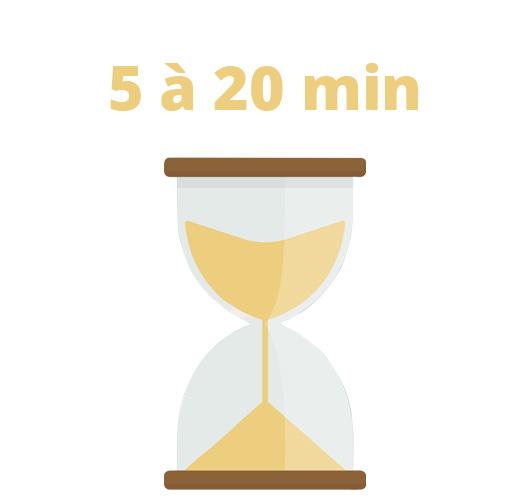 sablier temps d'attente