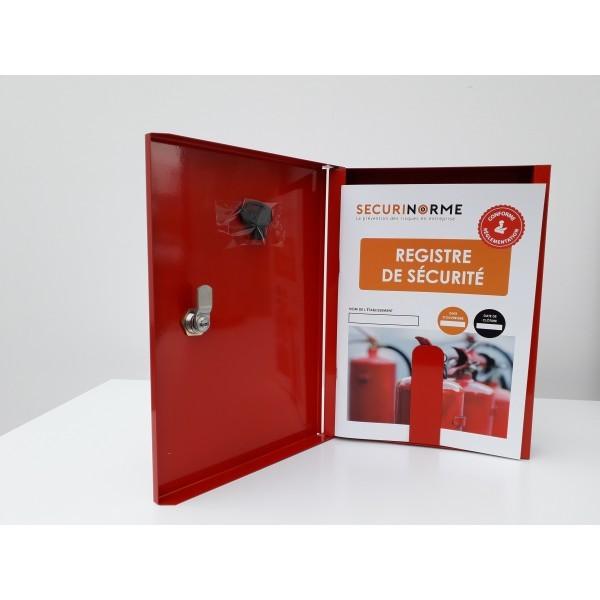 registre de sécurité avec armoire