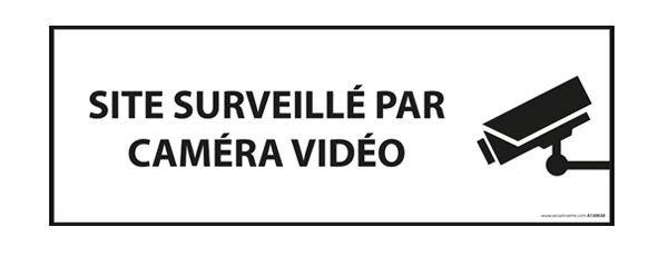 panneau site sous video surveillance