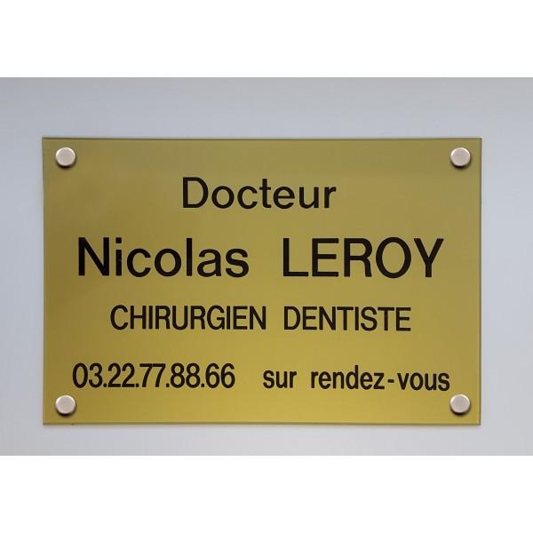 plaque d'entreprise de dentiste