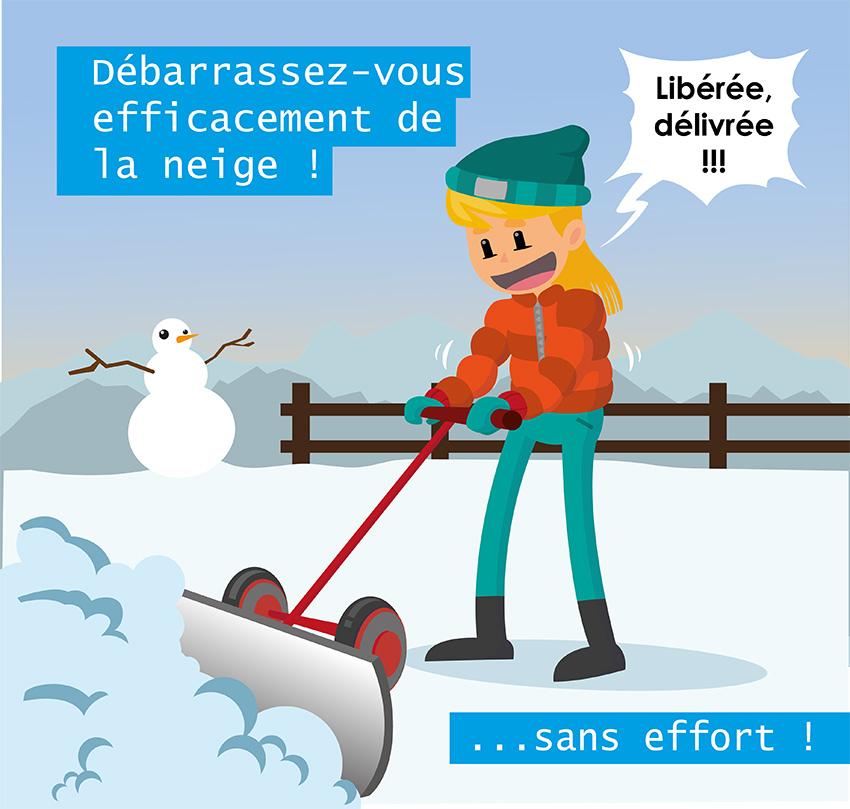 illustration neige - liberee delivree