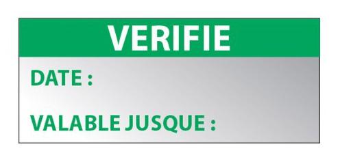 marquage étiquette d'inspection