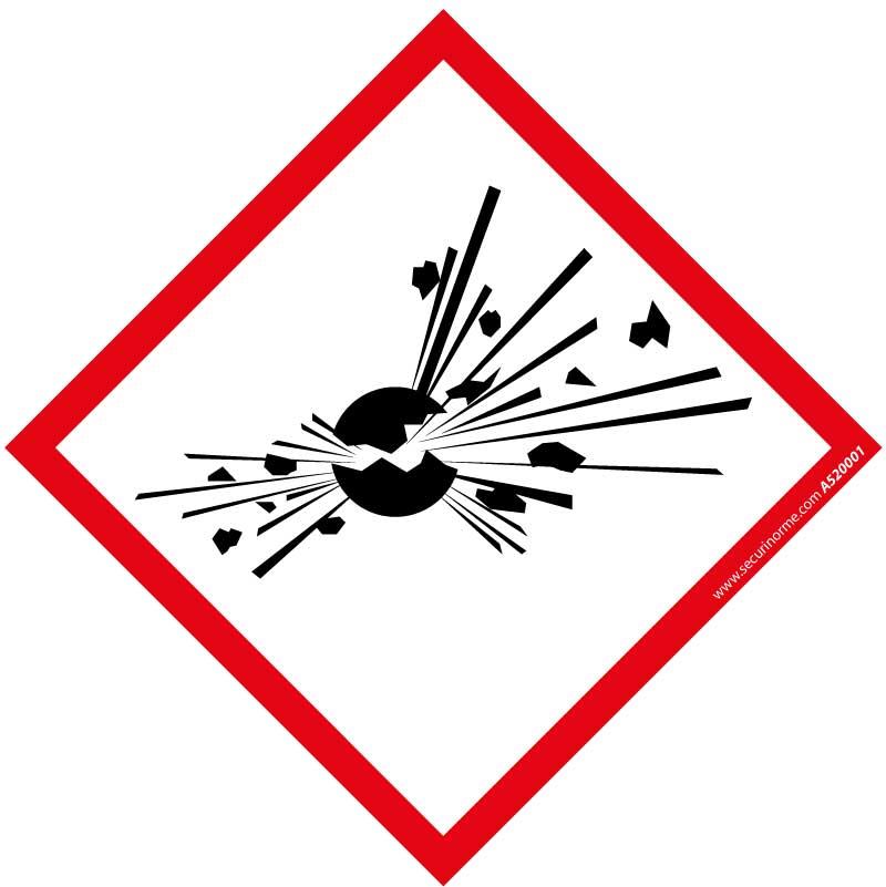 Pictogramme CLP SGH01 Matières explosives