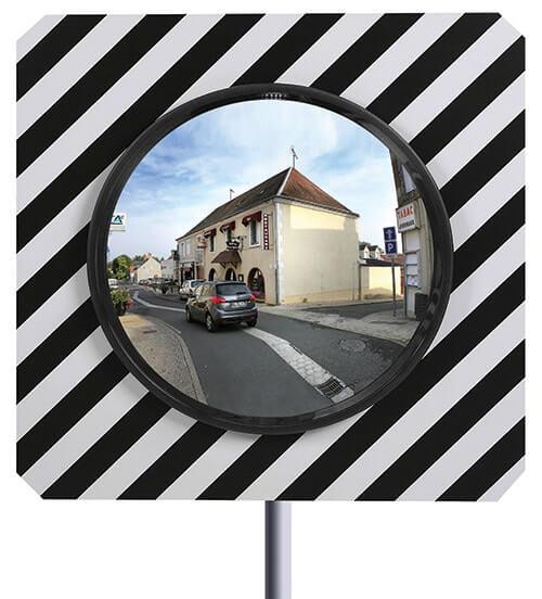 miroir de securite rond - sortie de parking ou de route