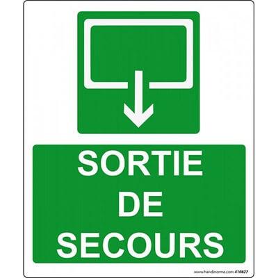 panneau de sécurité sortie de secours