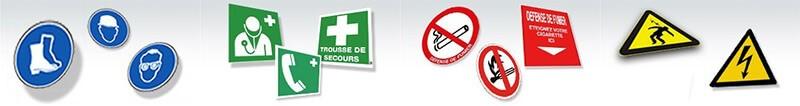 panneaux signalisations au travail