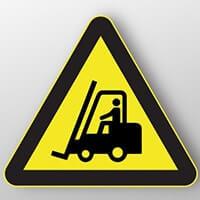 panneau danger chariot élévateur