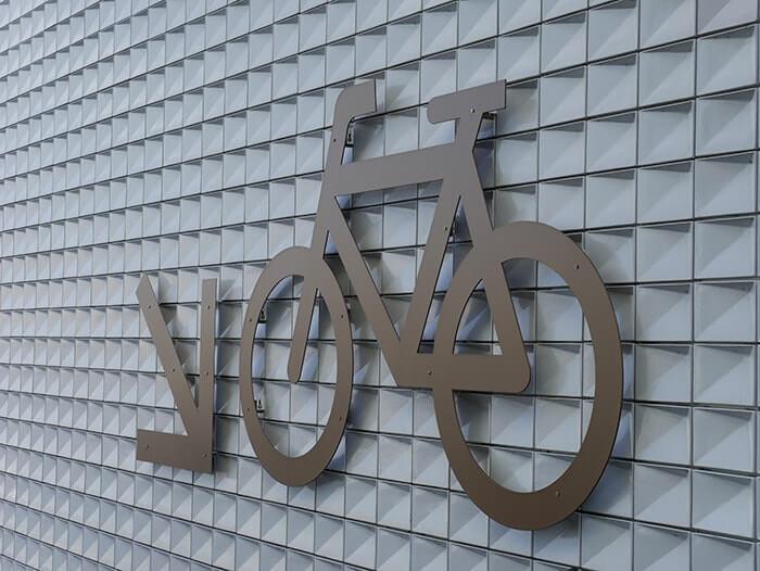 Visuel Picto Vélo sur garage