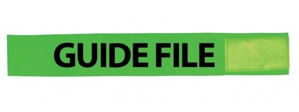 Brassard vert guide-file