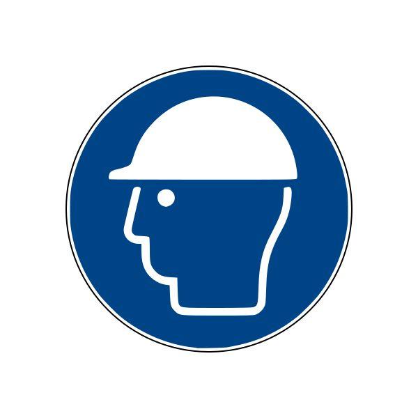 Panneau port du casque obligatoire ISO EN 7010