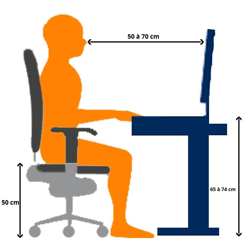 Position bureau dimensions