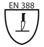 Pictogramme EN 388 coupure par impact