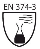 Pictogramme norme EN 374-3 perméation des produits chimiques