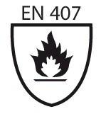 Pictogramme norme EN 407 protection contre la chaleur et le feu