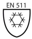 Pictogramme norme EN 511 protection contre le froid