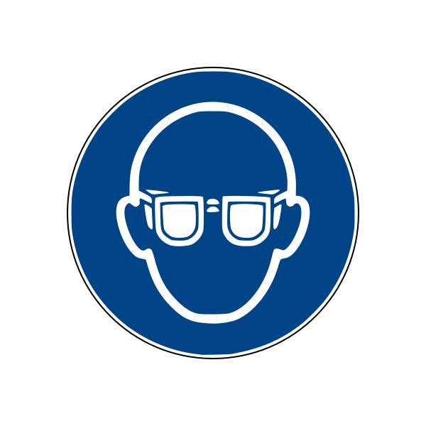 Panneau M004 ISO EN 7010 lunettes de protection obligatoires