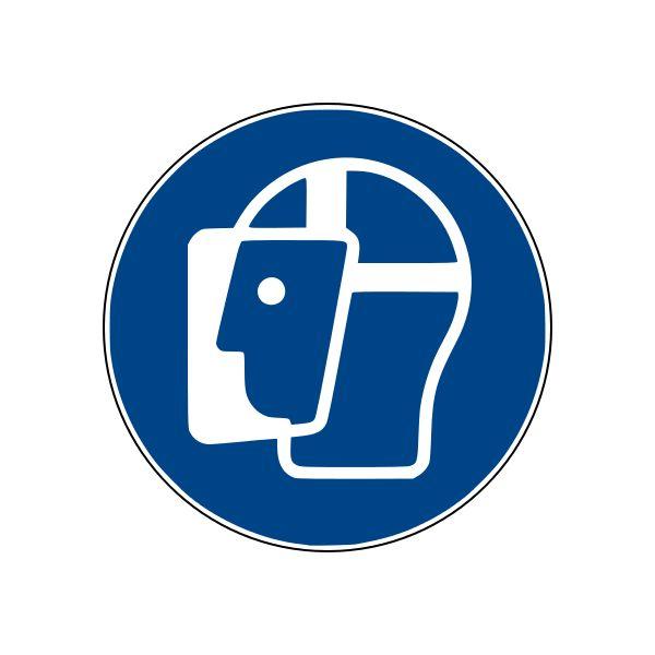 Panneaux M013 ISO EN 7010 visière de protection obligatoire