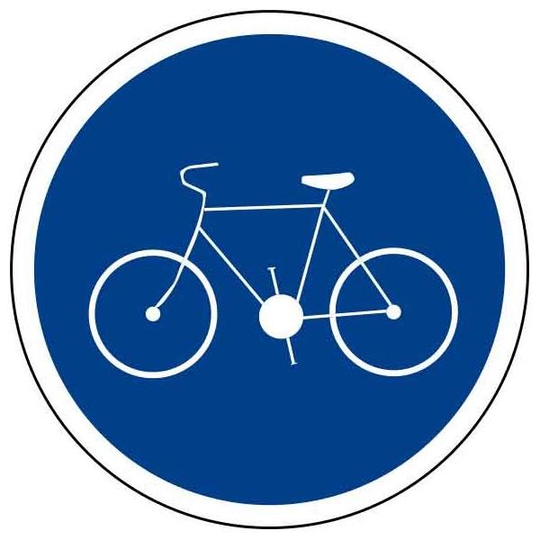 Panneau piste cyclable obligatoire