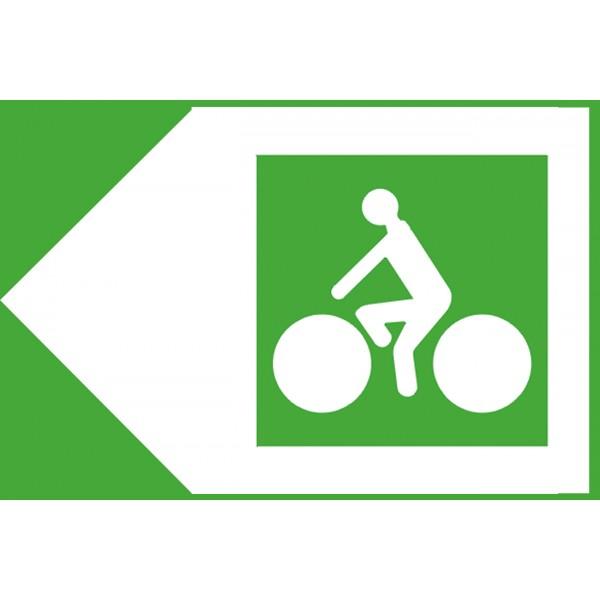 Panneau d'itinéraire piste cyclable