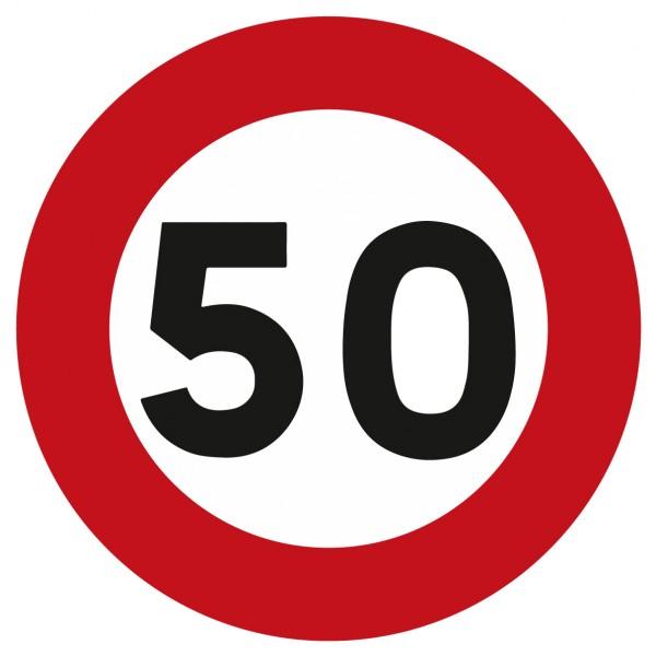 Panneau limitation à 50 km/h